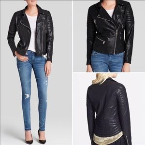 BLANKNYC Women's Faux Leather Quilted Moto Jacket